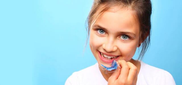 Aparato dental en niños