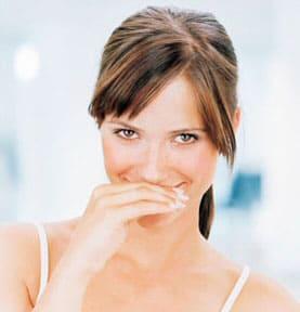 Mal aliento por infección en la boca