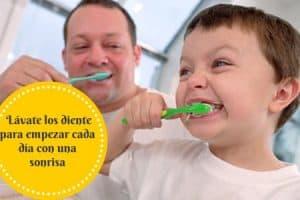 limpieza dental matinal