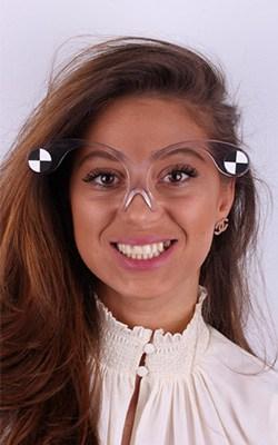 Gafas software de diseño de la sonrisa